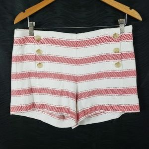 Ann Taylor Loft Striped Riviera Shorts Red Size 6